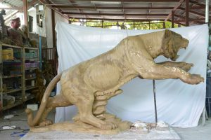 in production bronze leaping tiger pryor high school