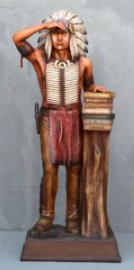 General Cigar Promotion 6ft Cigar Store Indian Completed 1