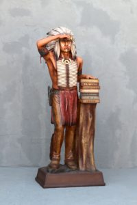 General Cigar Promotion 6ft Cigar Store Indian Completed 2