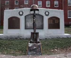 Bronze Battlecross war memorial